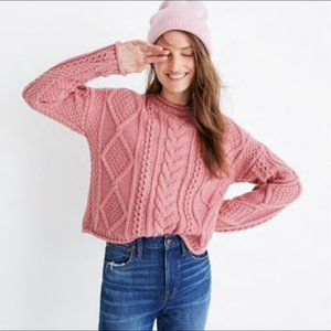 Madewell Wool Slope Cable Knit Sweater sz XS #1299